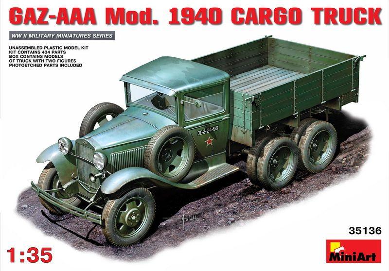 MiniArt GAZ-AAA Mod. 1940 Cargo Truck
