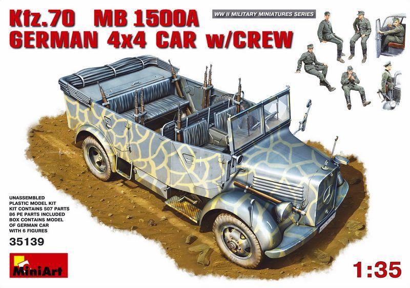 MiniArt Kfz. 70 (MB L1500A)German 4x4 Car w/Crew