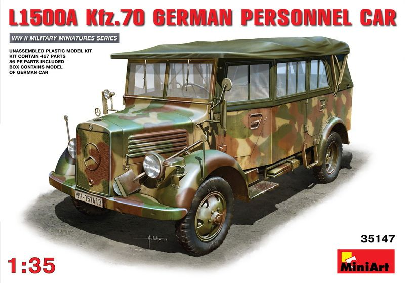 MiniArt L1500A (Kfz.70) German Personel Car