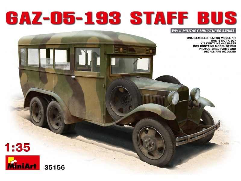 MiniArt GAZ-05-193 Staff Bus