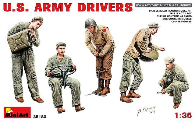MiniArt U.S. Army drivers