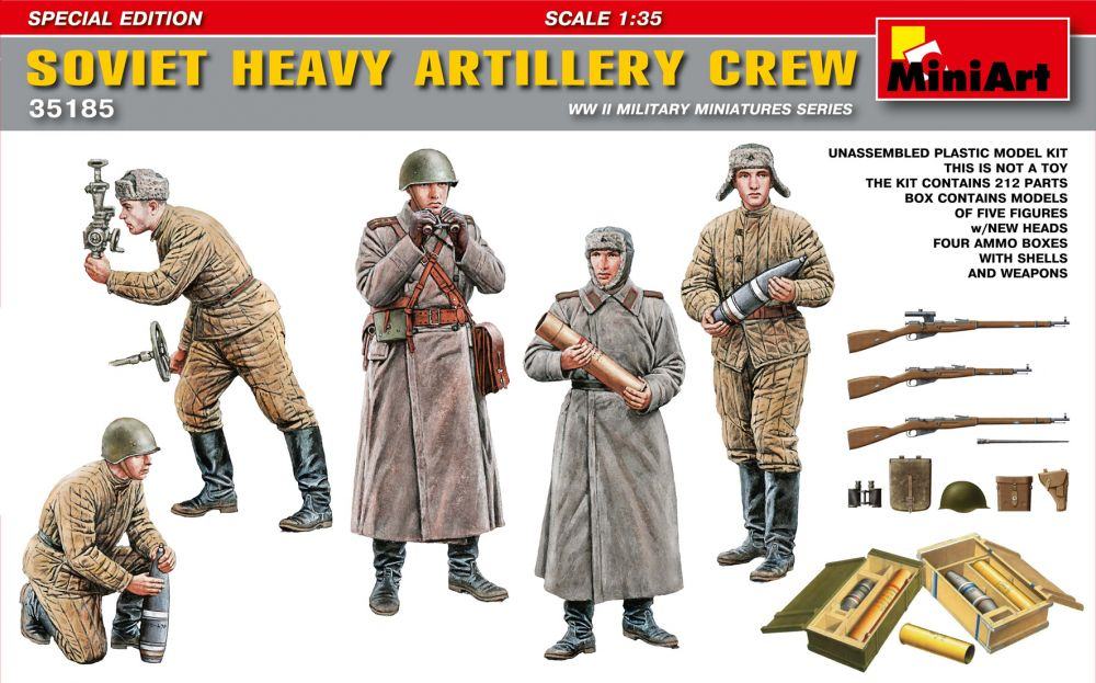 MiniArt Soviet Heavy Artillery Crew.Special Edition