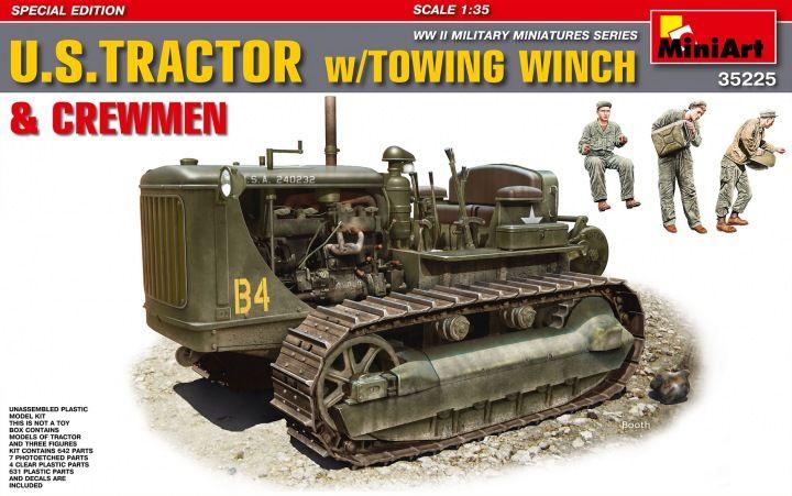 MiniArt U. S. Tractor w/Towing Winch & Crewmen