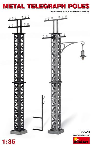 MiniArt Metal telegrah poles