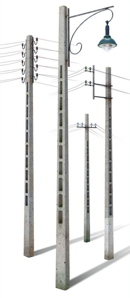 MiniArt Concrete Telegraph Poles