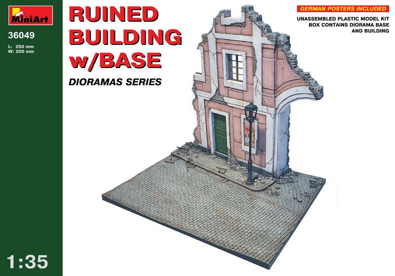 MiniArt Ruined Building w/Base