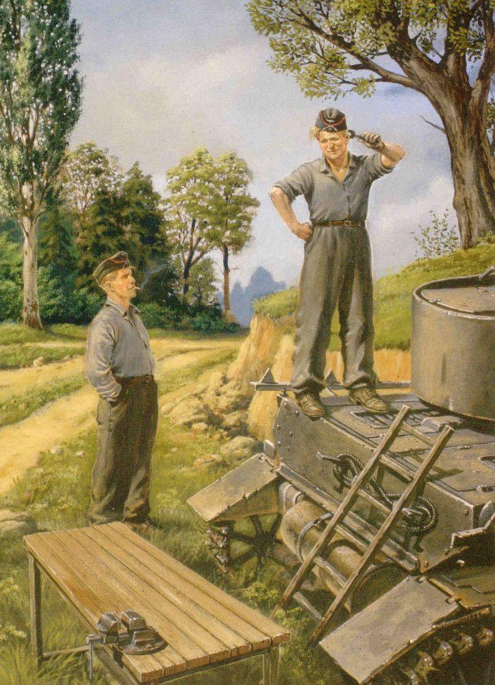 Masterbox German tank repairmen