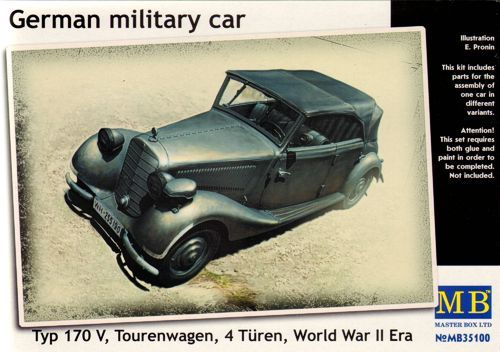 Masterbox German military car Typ 170V, Tourenwagen
