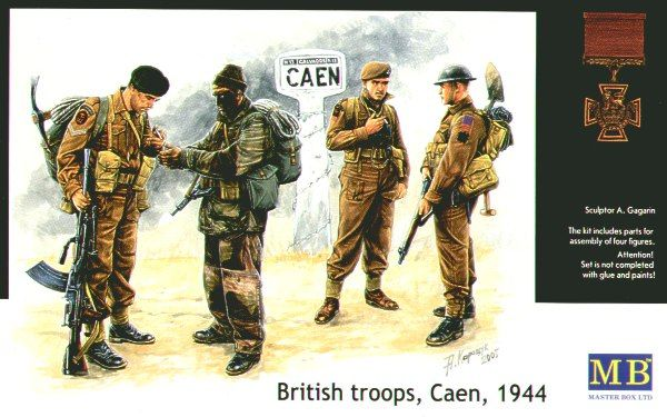 Masterbox British Troops Caen 1944