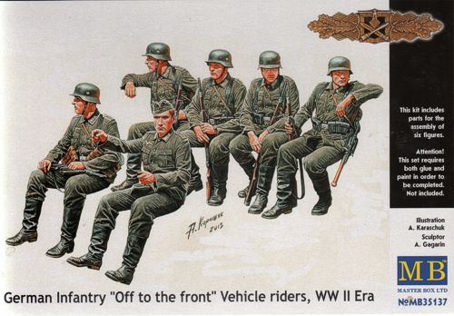 """Masterbox German infantry """"Off to the front"""" Vehicle riders"""
