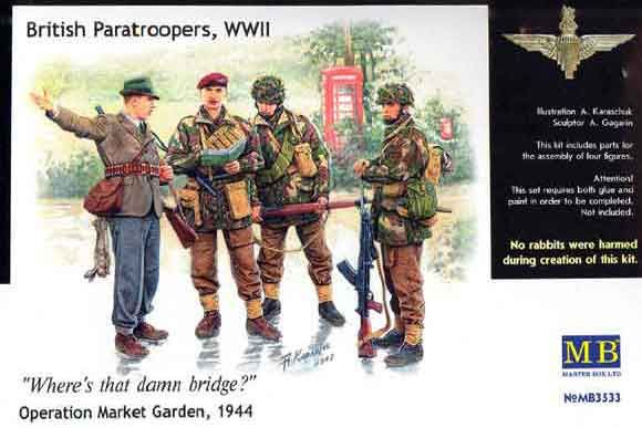 Masterbox British paratroopers 1944