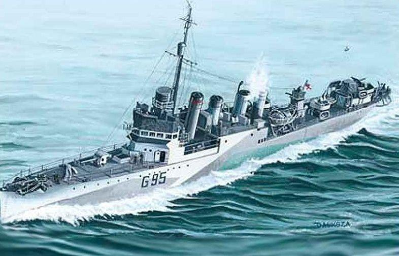Mirage HMS 'Montgomery' late 1942