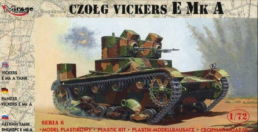 Mirage Light Tank Vickers E Mk A