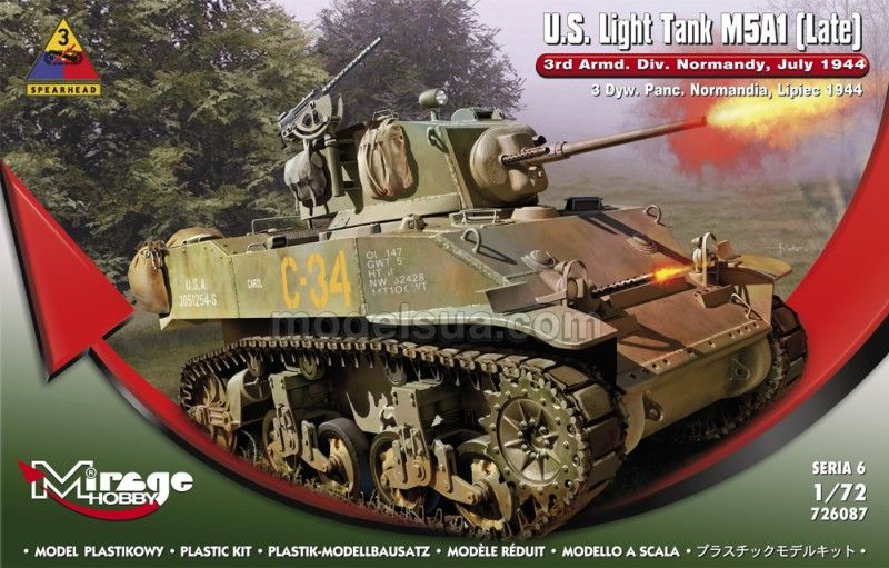 Mirage U.S.Light Tank M5A1 (Late) 3rd Armd.DivN