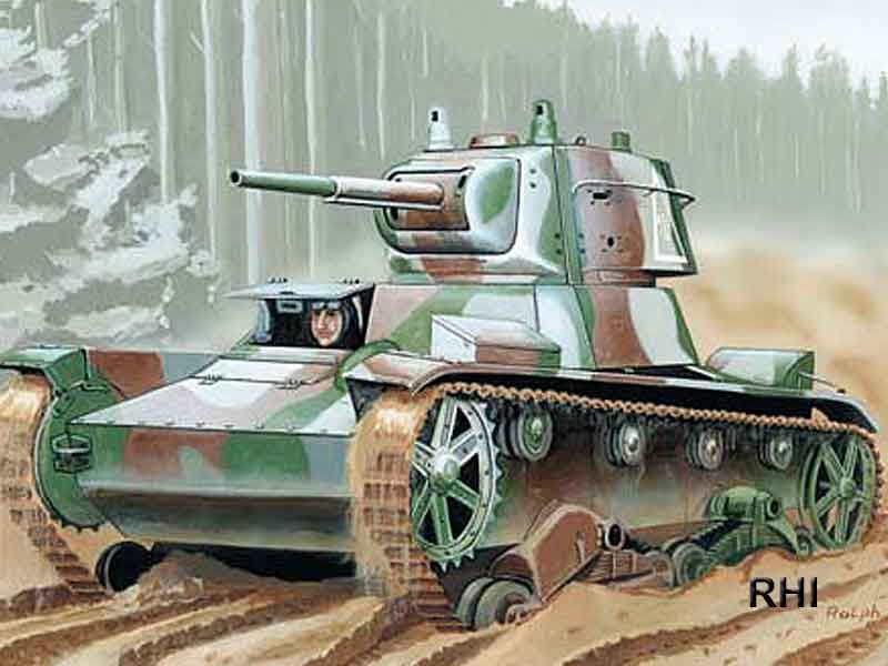 Mirage Light Tank T-26 Finland-45