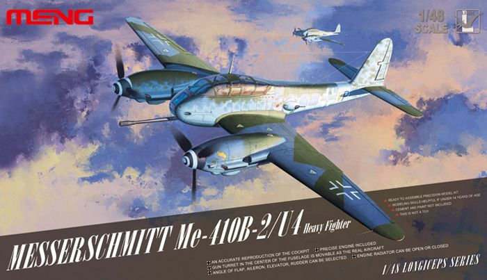 Meng Model Messerschmitt Me410B-2/U4 heavy fighter