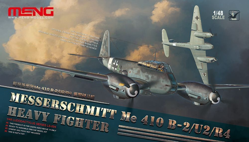 Meng Model Messerschmitt Me 410B-2/U2/R4 Heavy Fighter