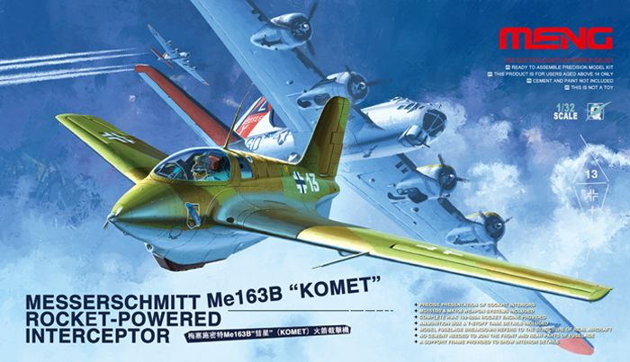 Meng Model Messerschmitt Me163B Komet Rocket-Powered
