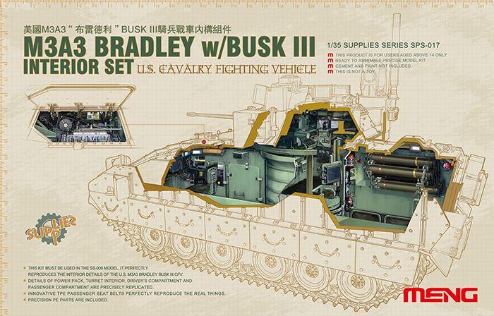 Meng Model U.S. Cavalry Fighting Vehicle M3A3 Inter Set