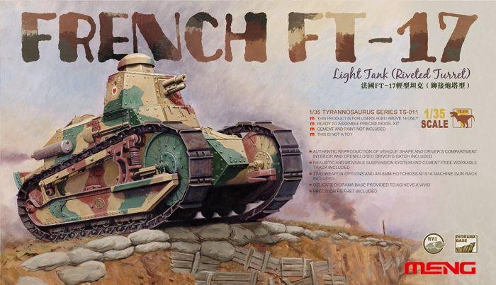 Meng Model French FT-17 Light Tank (Riveted Turret)