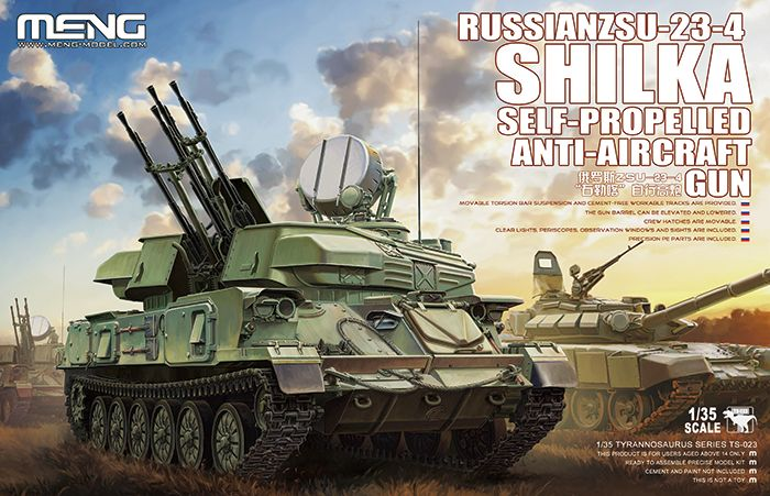Meng Model Russian ZSU-23-4 Shilka Self-Propelled Anti-Aircraft Gun