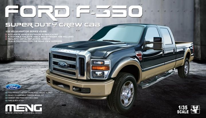 Meng Model Ford F-350 Super Duty Crew Cab