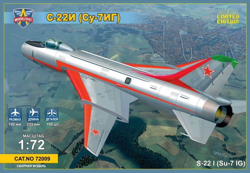 Modelsvit Sukhoi Su-22I (Su-7IG) Su-7BM with wings