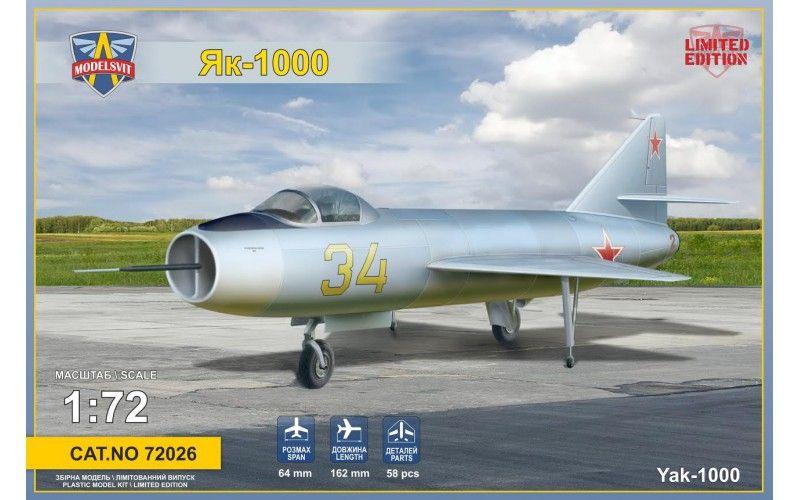 Modelsvit Yakovlev Yak-1000 Soviet supersonic demo