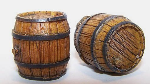Plus Model Wooden barrel
