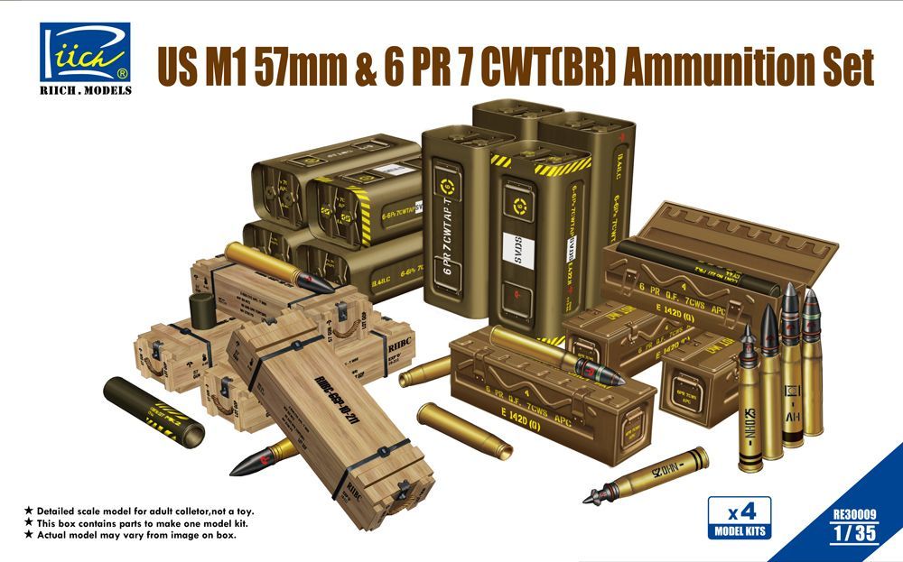 Rich Models US M1 57mm & 6PR 7cwt (BR) Ammunition Set