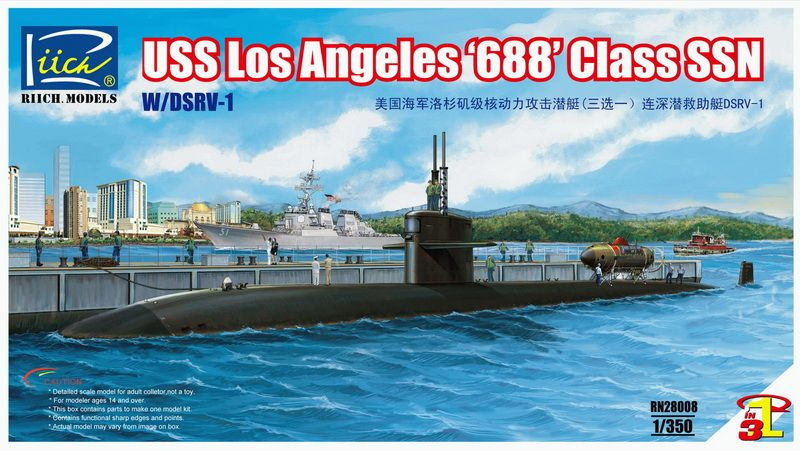 Riich Models USS Los Angeles '688' Class SSN with DSRV-1