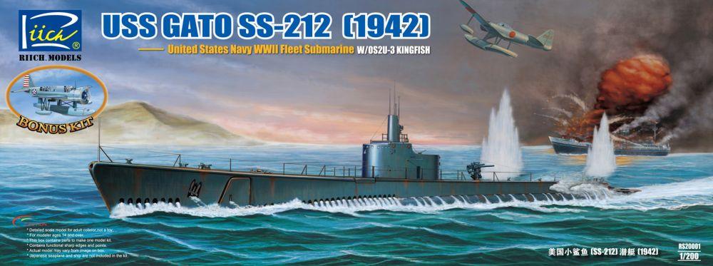 Riich Models USS Gato Class SS-212 Fleet Submarine 1942