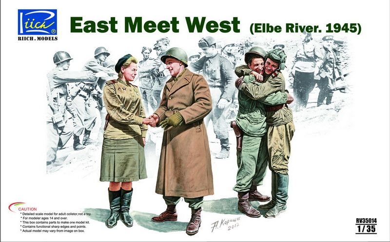 Riich Models East meet West (Elbe River. 1945)