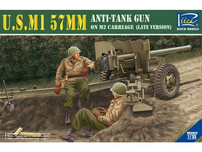 Riich Models U.S.M1 57mm Anti-tank Gun on M2 carriage (Late Version)