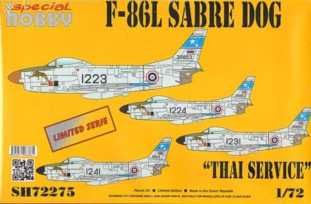 """Special Hobby F-86L Sabre Dog """"Thailand Service"""""""