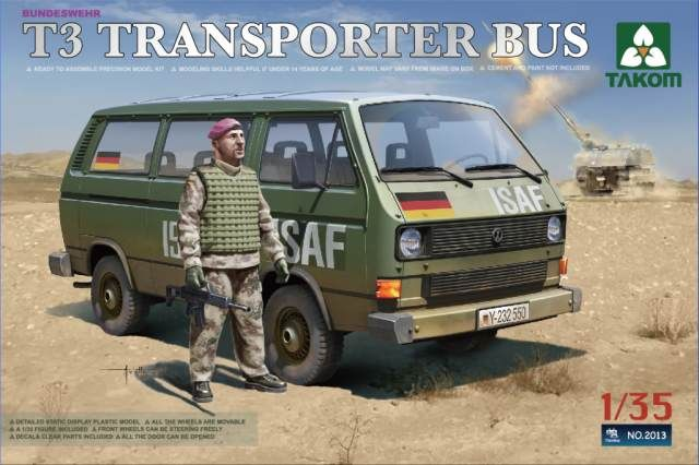 Takom Bundeswehr Transporter Bus (with figure)