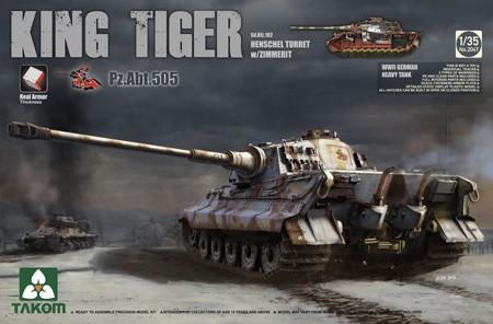 Takom Sd.Kfz.182 King Tiger Henschel Turret w/Zimmerit PZ.ABT. 505