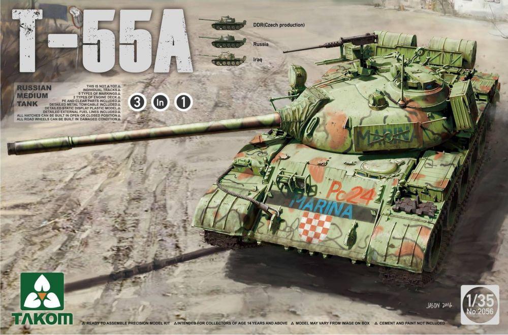 Takom Russian Medium Tank T-55A (3 in 1)