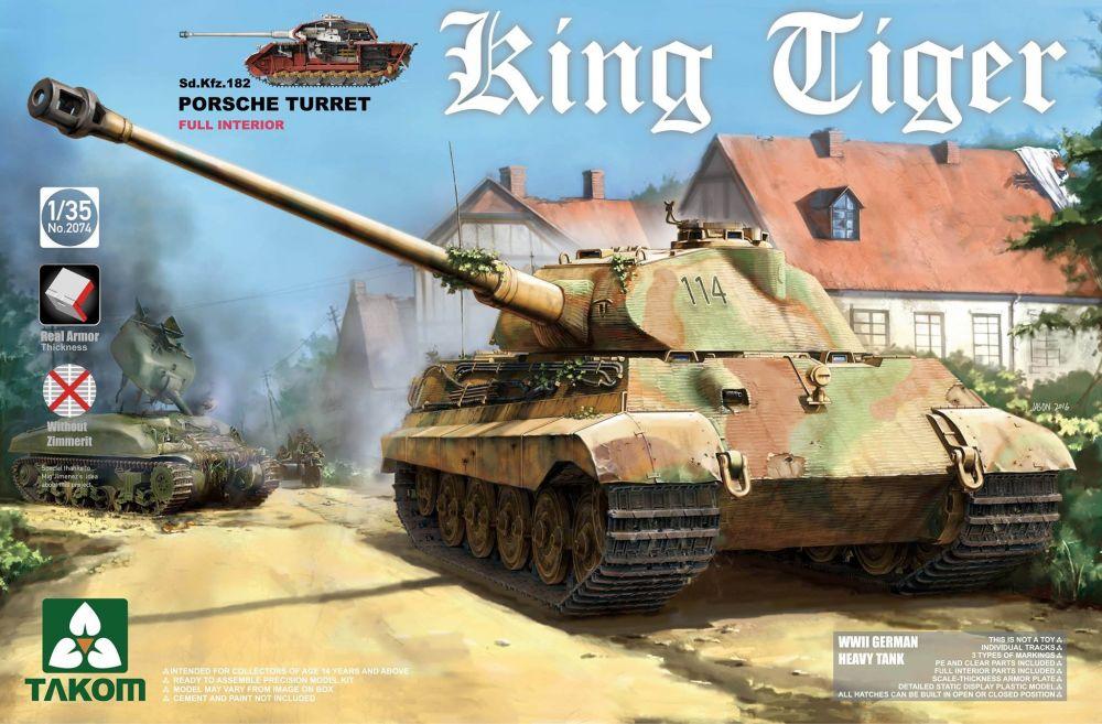 Takom Sd.Kfz.182 King Tiger Porsche Turret w/interior