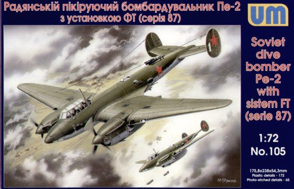 Unimodels Dive Bomber Pe-2 with FT 87