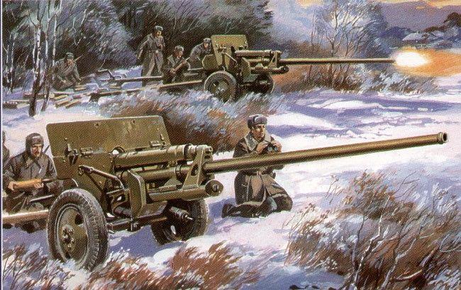 Unimodels Gun ZIS-2 57mm Antitank gun