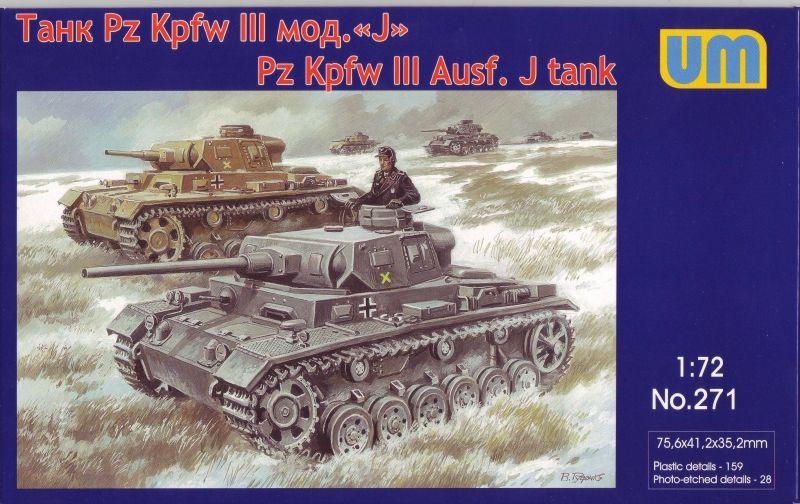 Unimodels Pz.Kpfw III Ausf.J.German tank