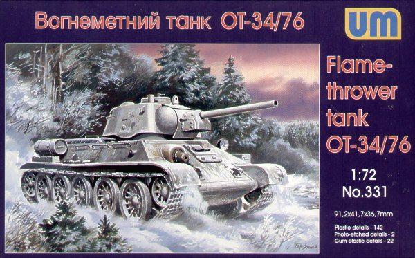 Unimodels OT-34/76 Flamethrower Tank