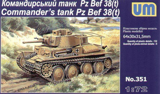 Unimodels Pz Bef 38 (t) Commanders Tank