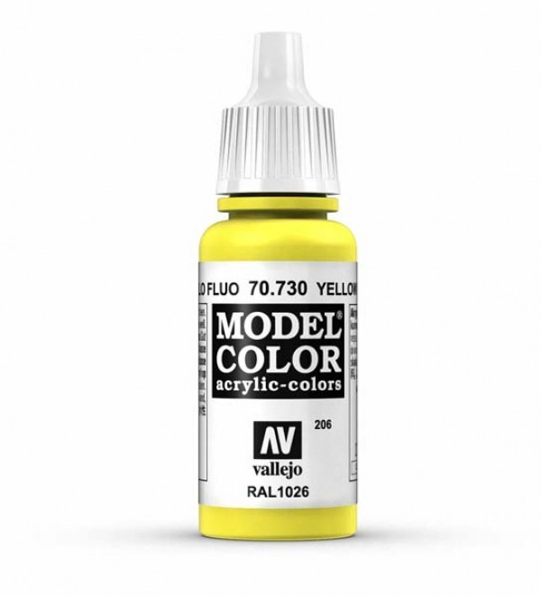 Vallejo Model Color 206 Yellow Flourescent