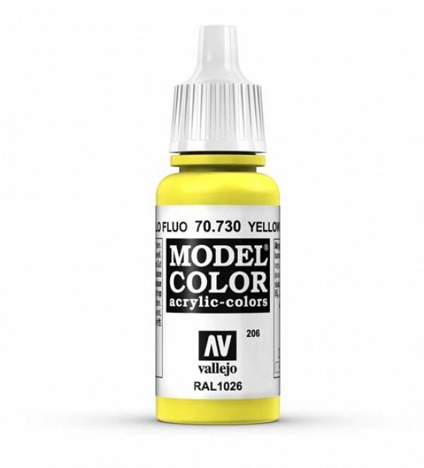 Vallejo Model Color 206 Yellow Flourescent