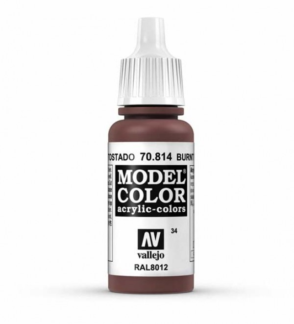 Vallejo Model Color 34 Burnt Cadmium Red