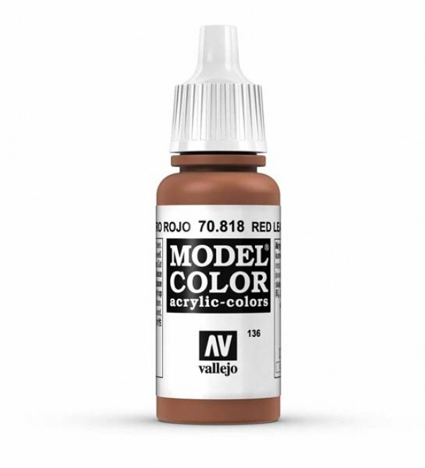 Vallejo Model Color 136 Red Leather