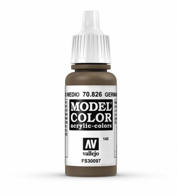 Vallejo Model Color 145 German Cam. Medium Brown