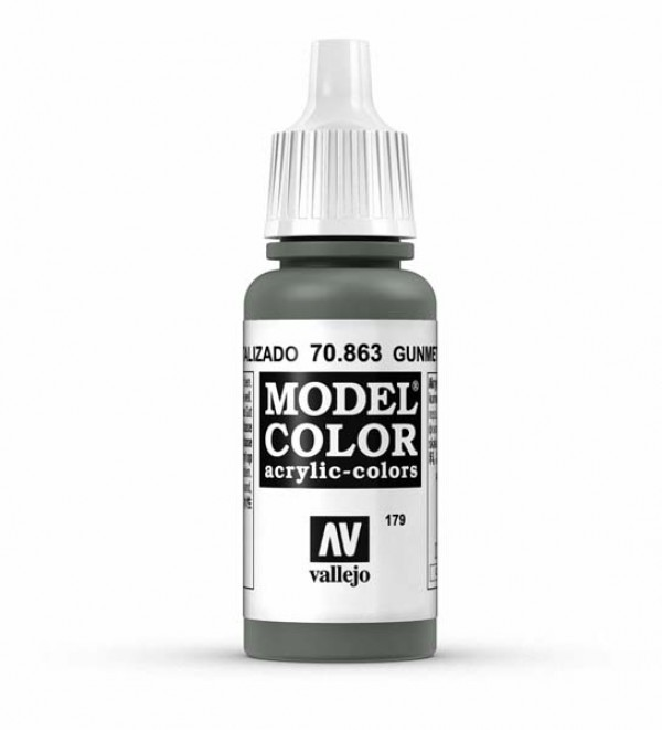 Vallejo Model Color 179 Gunmetal Grey